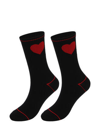 Solid Color/Geometric fashion/Breathable/Women's/Crew Socks Socks