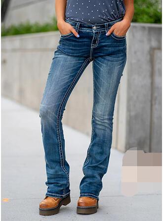 Shirred Plus Size Skinny Vintage Denim & Jeans