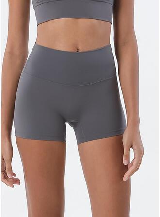 Spandex Chinlon Plain Yoga/fitness pants Moisture wicking