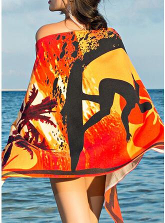 Color Block/Bohemliv/Färgglada Lättvikt/Multifunktionella/sand gratis/Snabbtork handduk