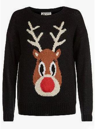 Könsneutrala polyester Deer Ugly Christmas Sweater