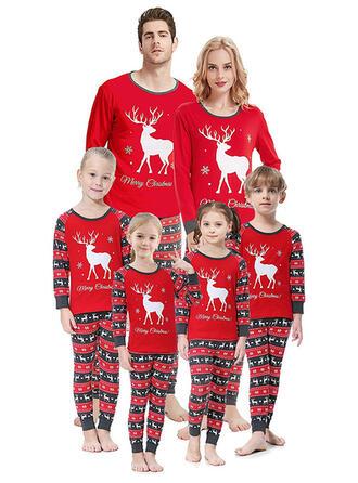 Deer Print Matchande familj Jul Pyjamas