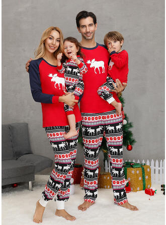 Ren Matchande familj Jul Pyjamas
