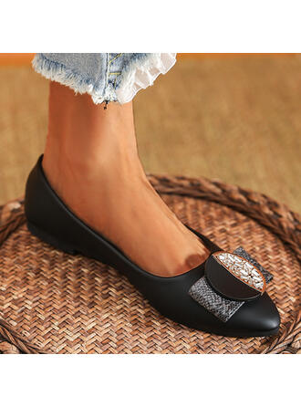 Women's PU Others Flats Slip On With Rhinestone shoes