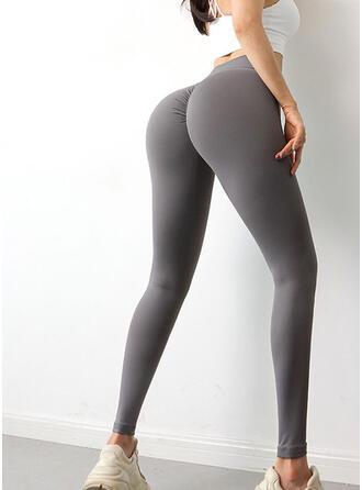 Nylon Chinlon Plain Yoga/fitness pants Moisture wicking