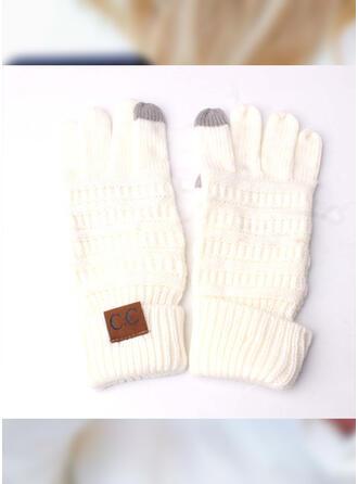 Solid Color/Geometric/Crochet Full Coverage/Reusable/Women's Gloves