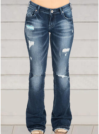 Shirred Extra stor storlek Rev Fritids Vinobranie Denim & Jeans