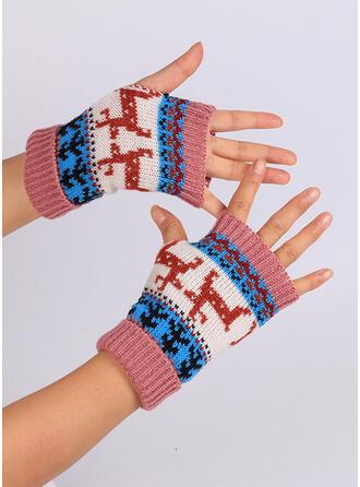 Solid färg/Jul mode/Bekväm/Jul Handskar