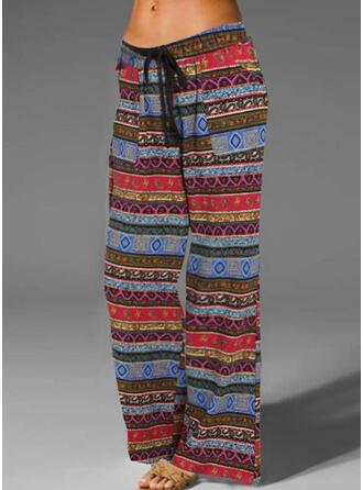 Striped Plus Size Boho Vintage Lounge Pants