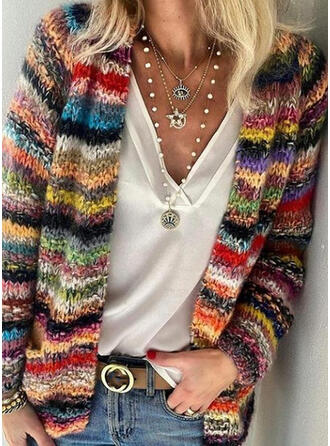 Color Block Casual Cardigan